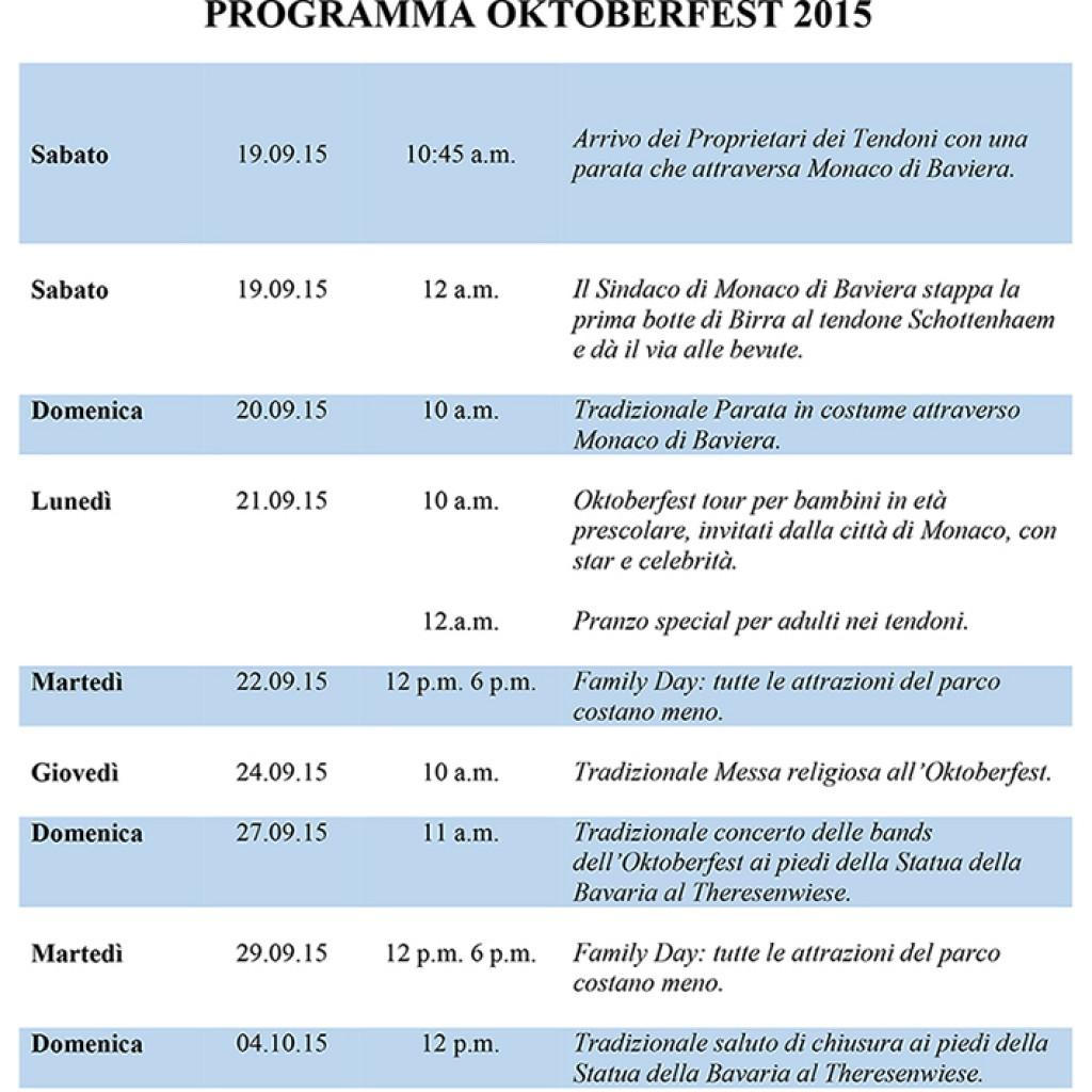 PROGRAMMA OKTOBERFEST 2015-1